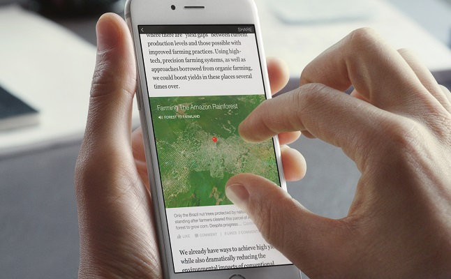 Map featured in an Instant Article. Credit@ Facebook