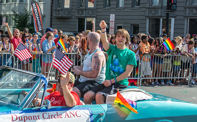 Jack at the DC National Pride parade last year. Credit@Tim Evanson
