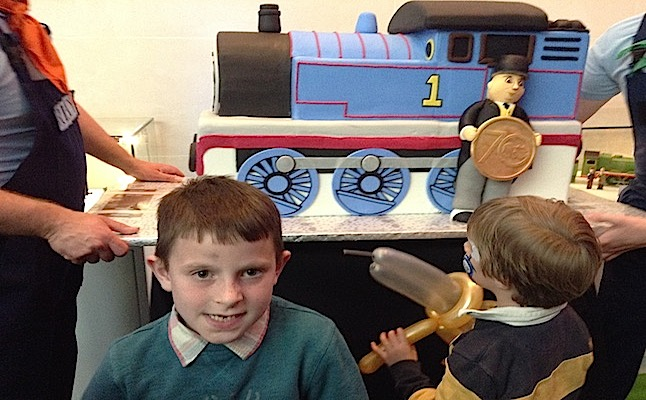 The cake was amazing! It was shaped just like the real train!