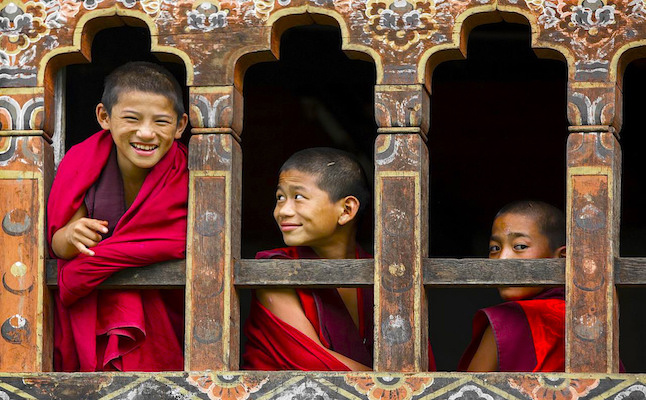 Young Bhutanese monks.Credit@christophermichel.flickr.com