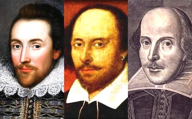 Some of the many portraits of William Shakespeare.Credit@BriceStratfordwikipedia