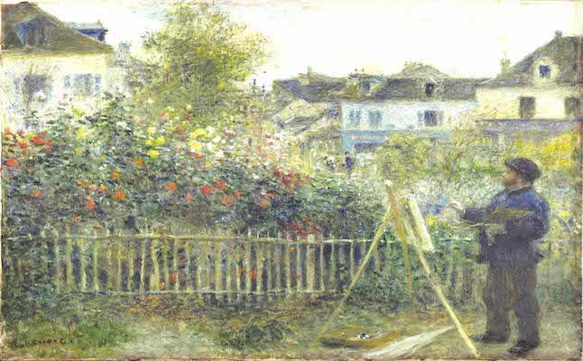 Auguste Renoir, Monet Painting in His Garden at Argenteuil, 1873  Oil on canvas, 46.7 x 59.7 cm  Wadsworth Atheneum Museum of Art, Hartford, CT. Bequest of Anne Parrish Titzell,  1957.614  Photo © Wadsworth Atheneum Museum of Art, Hartford, CT