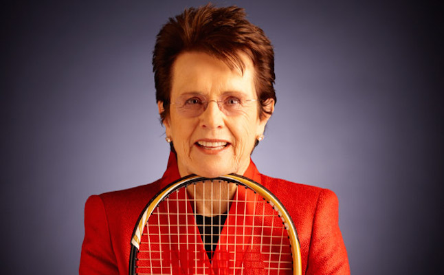 Billie Jean King gender equality advocate in tennis.Credit@femalecoachingnetwork.com