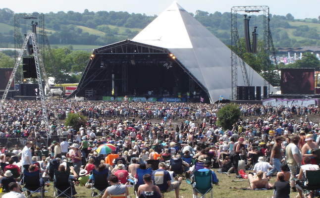 Pyramid stage at Glastonbury.Credit@wikimedia.org