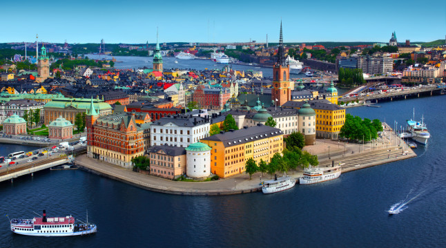 Panorama of Stockholm, Sweden. Credit@etravel.com