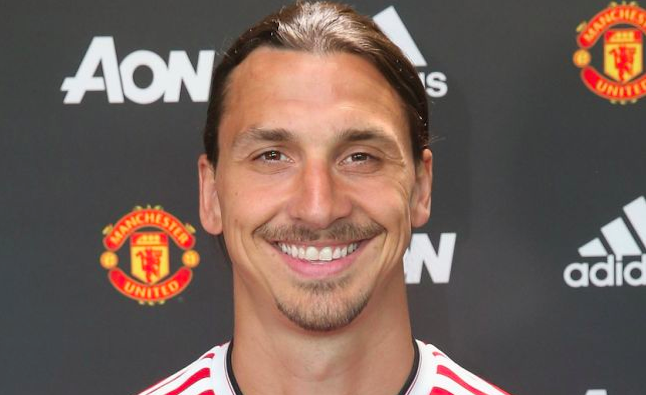 Zlatan Ibrahimovic now plays for Manchester United. Credit @tumblr.com
