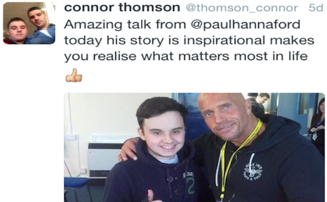 Paul Hannaford supports other individuals. Credit@PaulHannaford.com