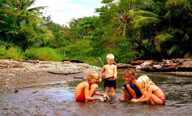 Children playing in the water. Credit@theSundancefamily.com