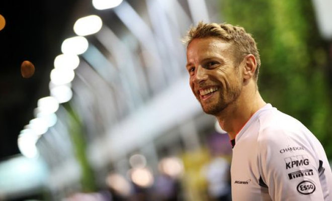 Jenson Button smiling pre-race. Credit @pinterest.com.