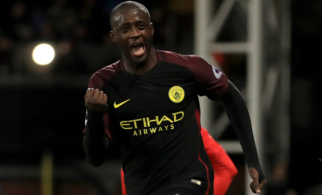 Toure celebrates his winning goal versus Crystal Palace. Credit @tumblr.com.