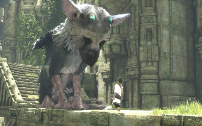 Trico and the boy attempting to communicate with one another Credit@SonyInteractiveEntertainment