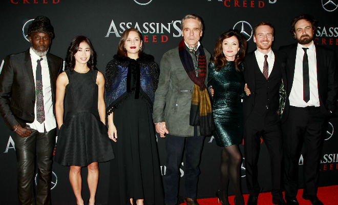 The cast of the film adaptation of Assassin's Creed Credit@Dave Allocca - StarPix©2016