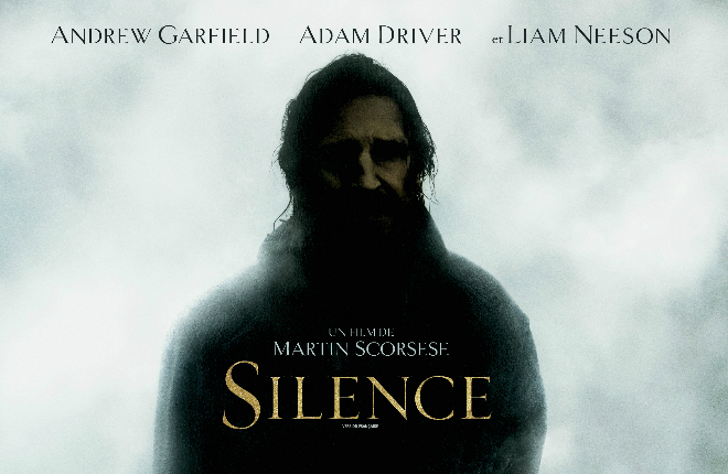 Move poster for Silence, featuring Liam Neeson Credit@Paramount Studios