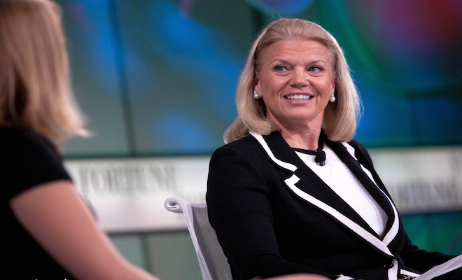 IBM CEO Ginni Rometty. Credit@wikipedia