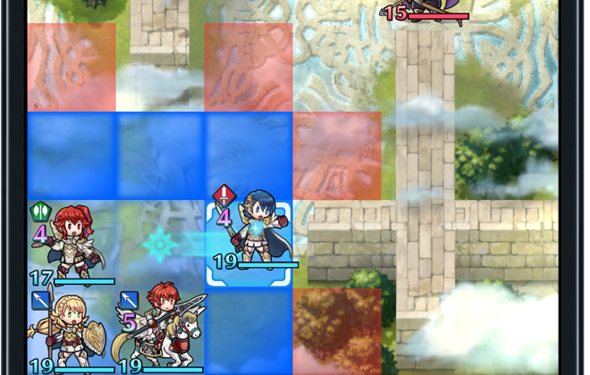 Fire Emblem Heroes features tactical role playing gameplay elements. credit@Nintendo