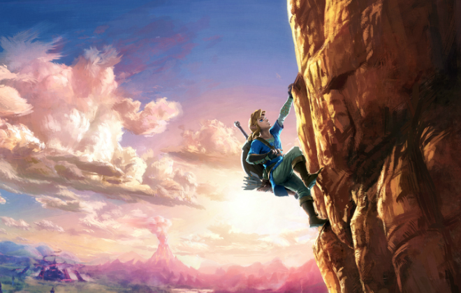 The open world of The landscape of Breath of the Wild is filled with opportunity. Credit@2017 Nintendo. The Legend of Zelda, Wii U, and Nintendo Switch are trademarks of Nintendo.
