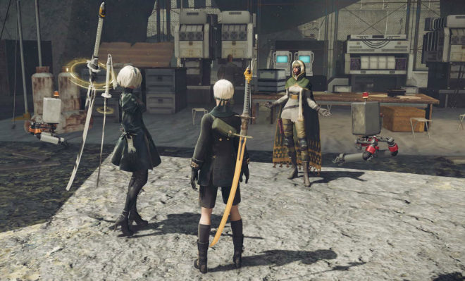 2B and her companion 9S explore the open-world of Nier Automata Credit@PlatinumGames Inc.